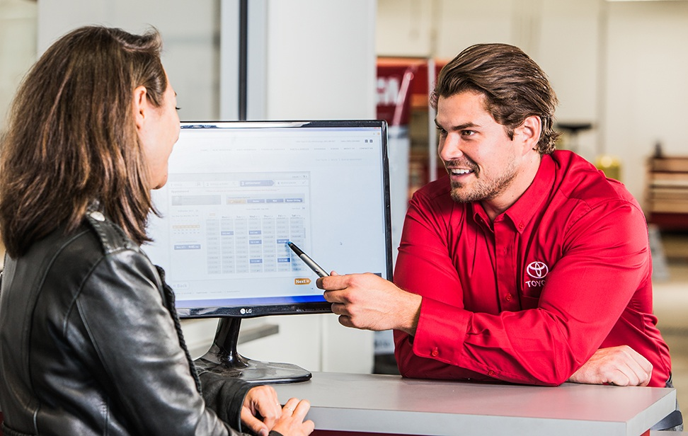 Booking your online Toyota service appointment is easy