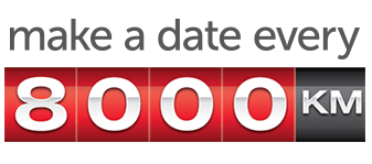 toyota service make a date every 8000km