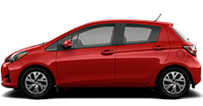 red 2019 Toyota Yaris